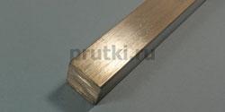 Квадрат алюминиевый Д16Т, ширина 10 мм