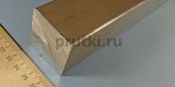 Квадрат алюминиевый Д16Т, ширина 40 мм