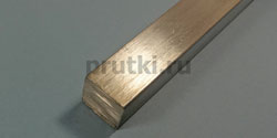 Квадрат алюминиевый Д16Т, ширина 55 мм