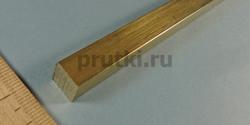 Квадрат латунный ЛС59-1, ширина 10 мм