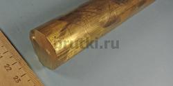 Пруток бронзовый БрАЖ9-4, диаметр 30 мм