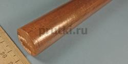 Пруток бронзовый БрХ1, диаметр 25 мм