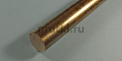 Пруток бронзовый БрОФ 7-0,2, диаметр 16 мм