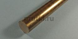 Пруток бронзовый БрОФ 7-0,2, диаметр 20 мм