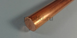 Пруток медный М1, диаметр 25 мм