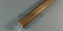 Шестигранник алюминиевый Д16Т, размер 41 мм