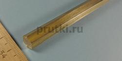 Шестигранник латунный ЛС59-1, размер 10 мм