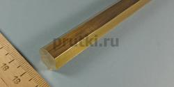 Шестигранник латунный ЛС59-1, размер 14 мм